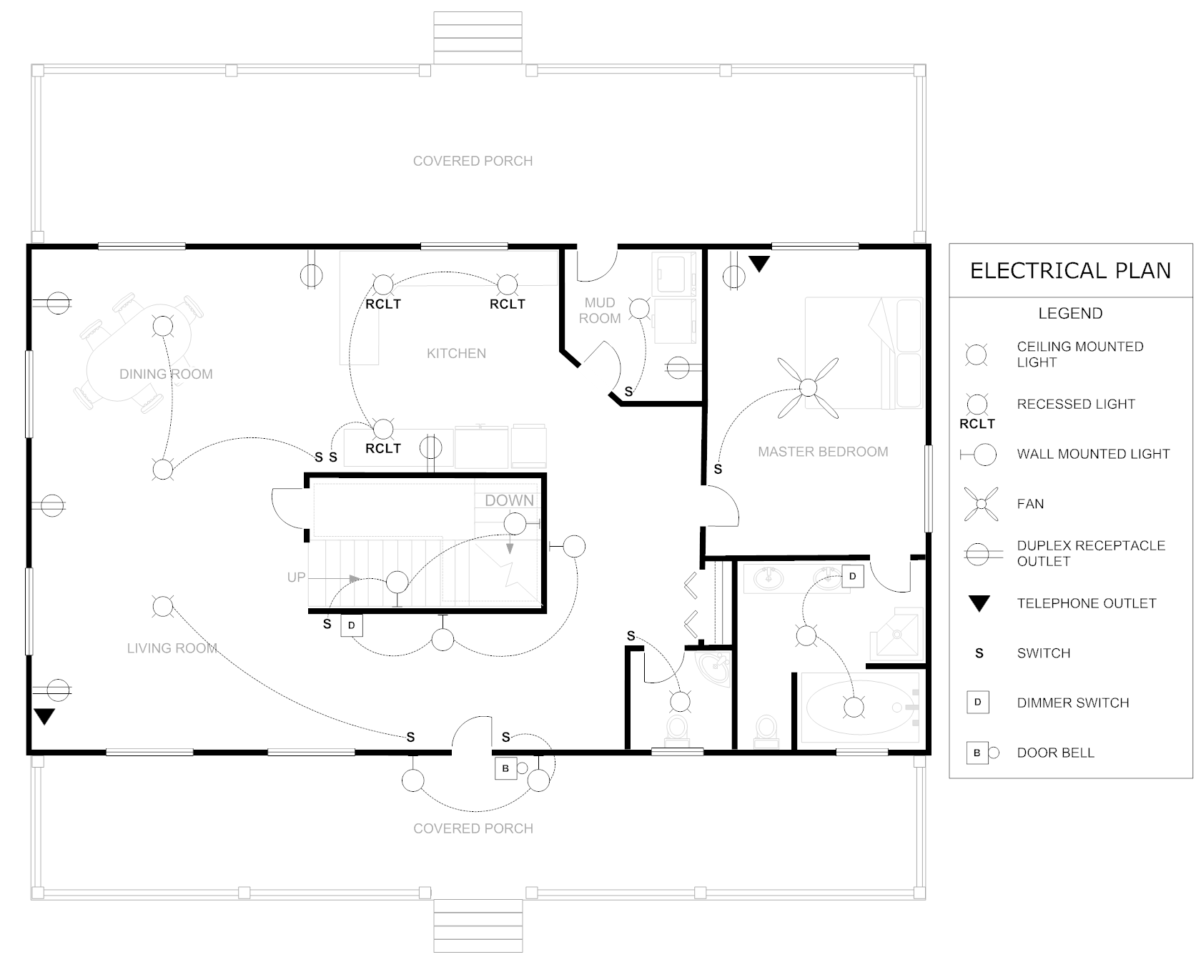 Floor Plan Example Electrical House - House Plans | #42866House Plans
