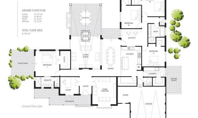 Floor Plan Friday Indoor Outdoor Fireplace House Plans 136761