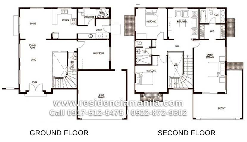 Floor Plan Giorgio House Model Crown Asia Premium Lot House Plans 61309