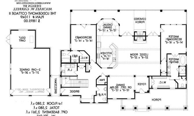 Floor Plan Great House Plans Black White