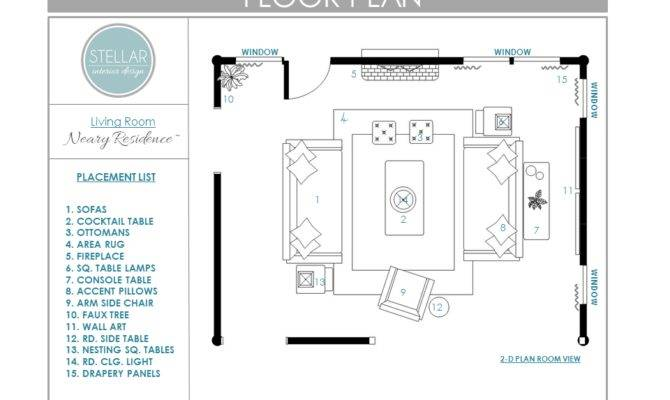 Floor Plan Living Room Stellar Interior Design