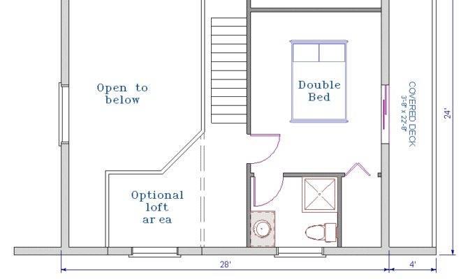 Floor Plan Log Cottage Kit Sqft Footprint