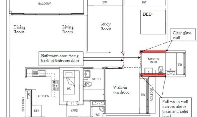 Floor Plan Master Bedroom Toilet Feng Shui Forum Geomancy