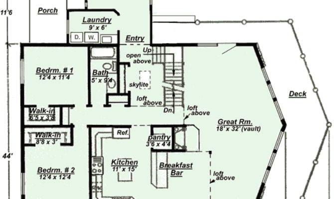 Floor Plan Model Chalet Style House