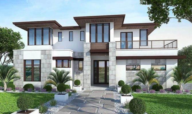 Floor Plan Modern House Garden