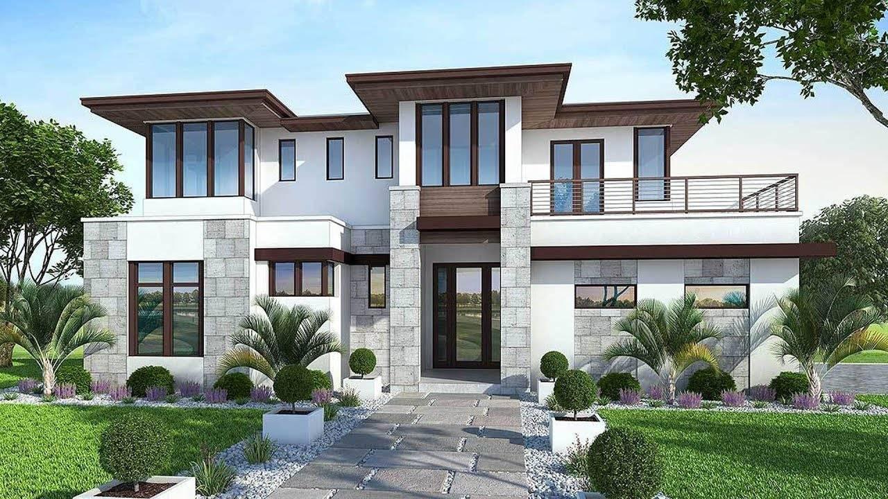 Floor Plan Modern House Garden - House Plans | #121261