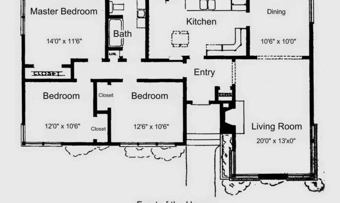 Floor Plan Simple House Bedroom Modern Minimalist Home Design