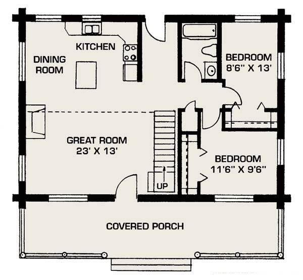 Floor Plan Small House House Plans 98820