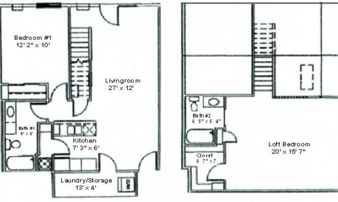 Floor Plan Two Bedroom Loft Woodsview Apartments