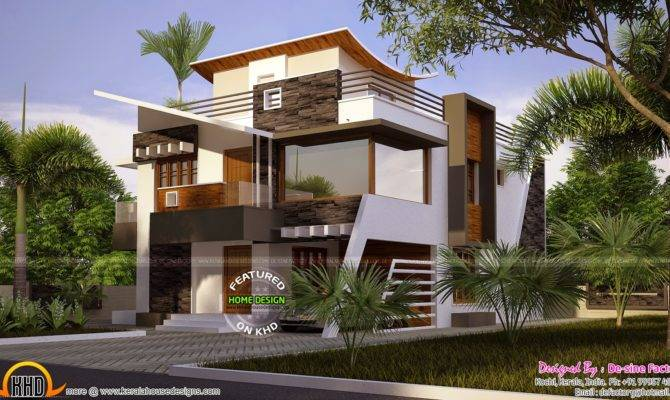 Floor Plan Ultra Modern House Kerala Home Design
