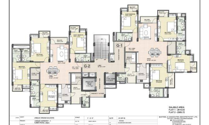 Floor Plan Unique Harmony Apartments Jaipur Residential Property