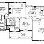Floor Plans Aflfpw Story Craftsman Home Bedrooms
