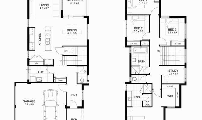 Floor Plans Basement Modern Two Bedroom House