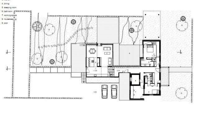 Floor Plans Design Modern Hotel First Plan