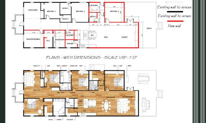 Floor Plans Designed Qarch Team Great Room Addition Remodel
