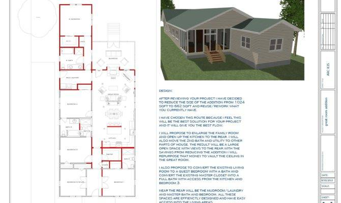 Floor Plans Designed Touyer Lee Great Room Addition Remodel