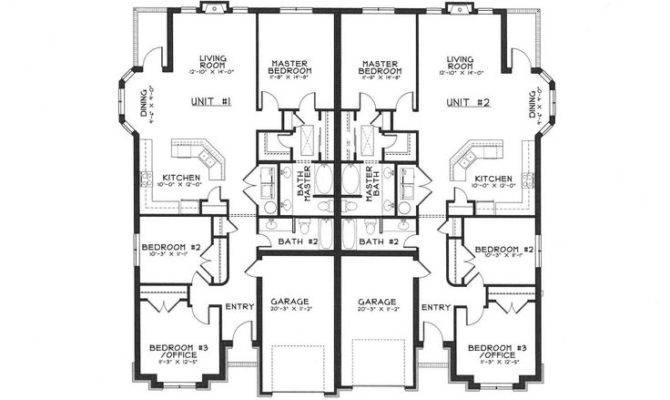Floor Plans Duplex Ideas Pinterest House