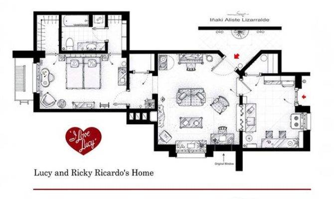 Floor Plans Famous Television Show Homes House