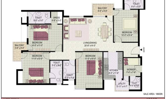 Floor Plans Jaypee Green Kosmos Sector Noida