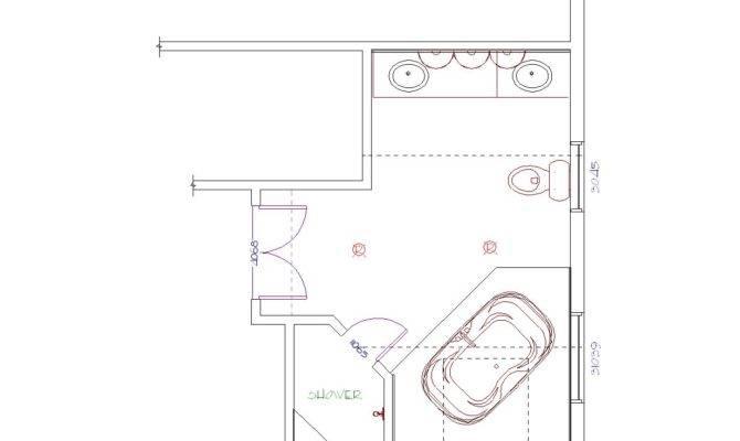 Floor Plans Master Bathroom Shower Design Plan