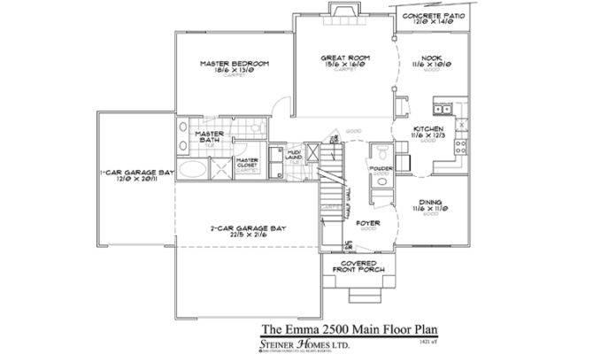 Floor Plans Master Main House