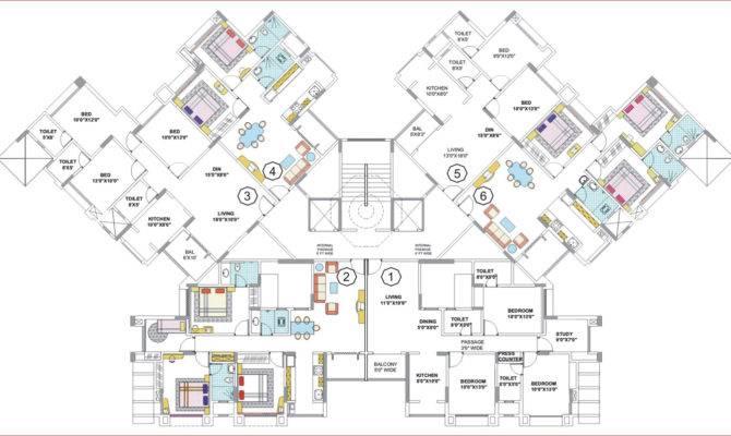 Floor Plans Nancy Group Thane Mumbai Residential Property Buy