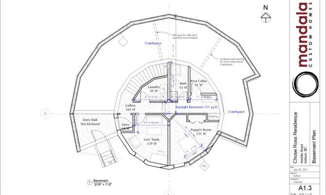 Floor Plans Our Green Round Home