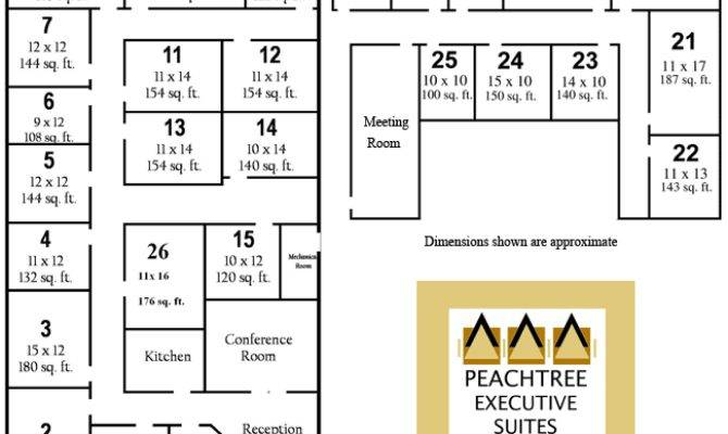 Floor Plans Peachtree Executive Office Suites