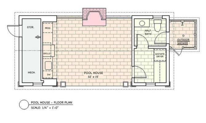 Floor Plans Pool House Details Houses