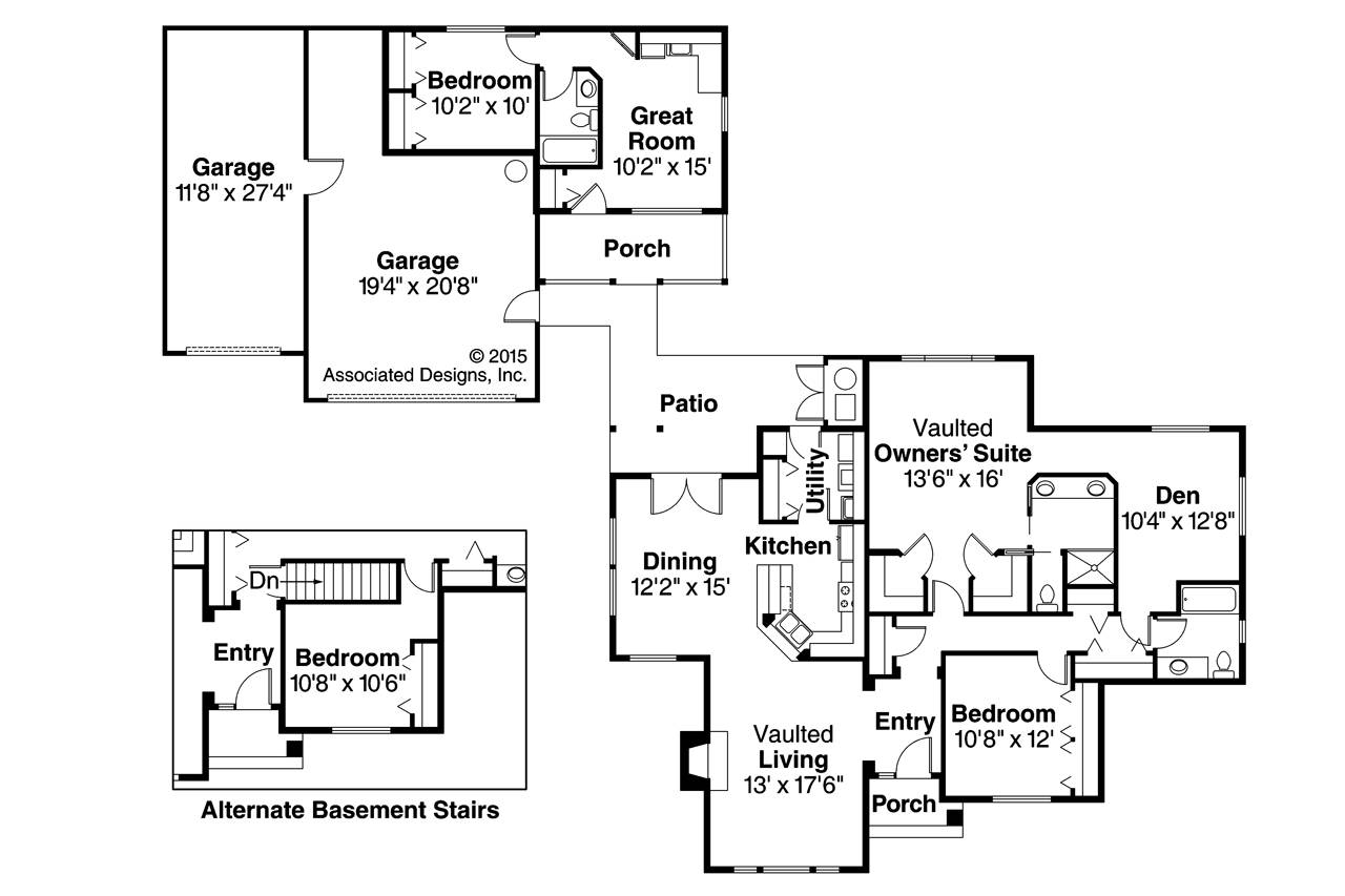 Floor Plans Separate Inlaw Quarters   House Plans   20