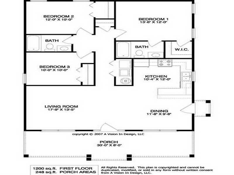 Floor Plans Small Houses Homes House Plans 79908