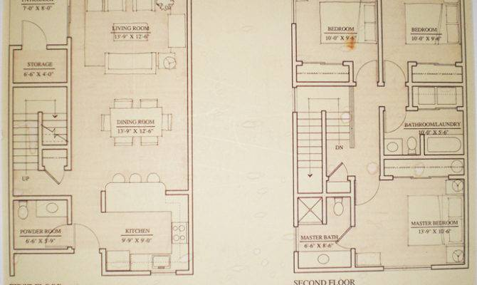 Floor Plans Townhouse Heron Club