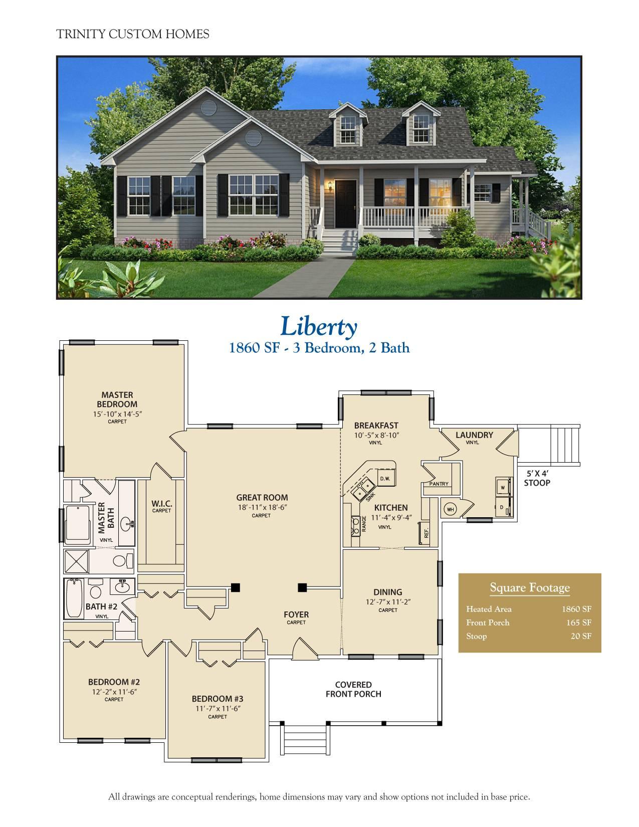 Floor Plans Trinity Custom Homes Georgia House Plans 95913