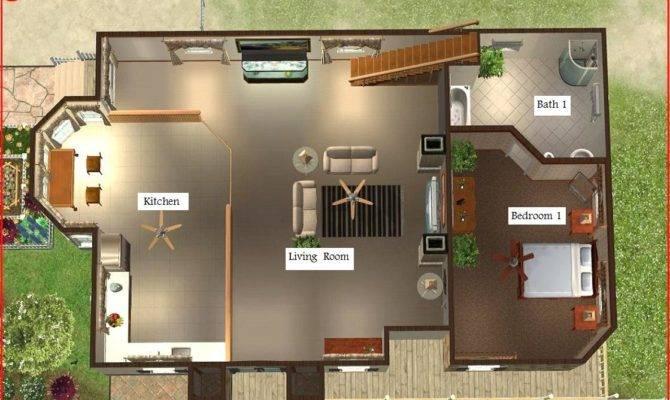 Floor Plant Sims Beach House Blueprints All