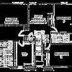 Floor Three Bedroom Split Ranch House Plan Car