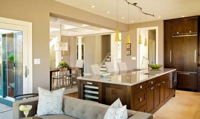 Flooring Contemporary Open Floor Plans Modern Home