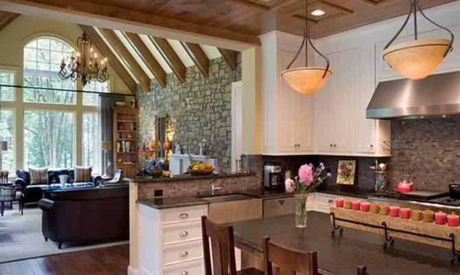 Flooring Open Floor Plan Kitchen Living Room House