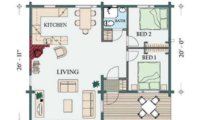 Floorplan Brown Cabin
