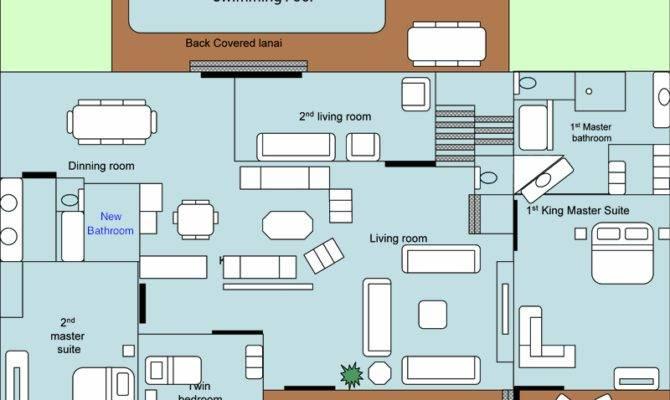 Floorplan Hawaiina Hibiscus Kauai Vacation Rental