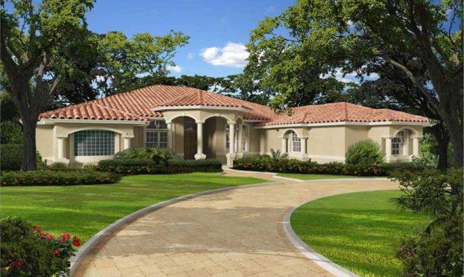 Florida Style Home Bdrms Floor Plan