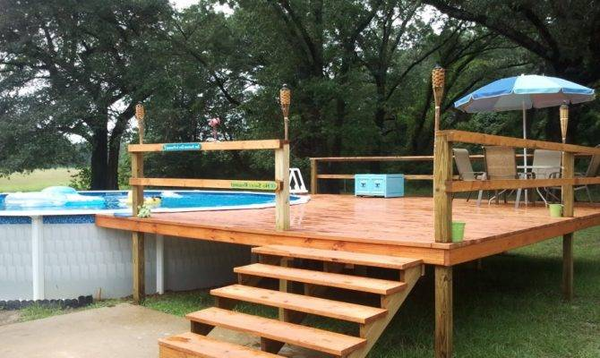 Foot Above Ground Pool Deck Plans Ideas