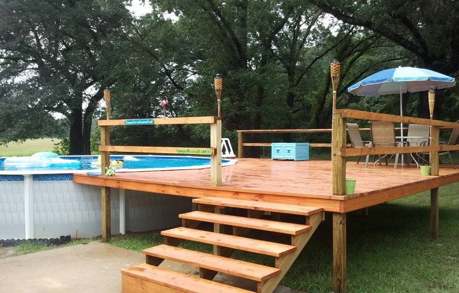 Foot Above Ground Pool Deck Plans Ideas House 140800