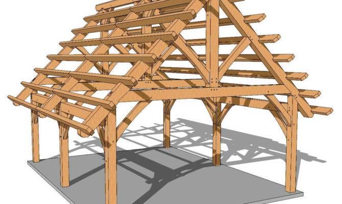 Foot Timber Frame Pavilion Plan