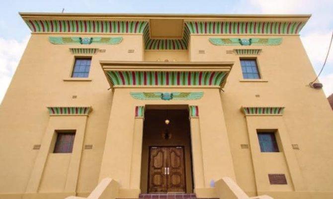 Former Masonic Lodge Built Ancient Egyptian Style