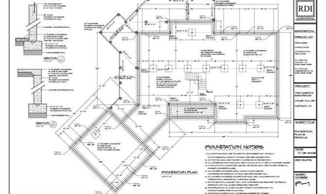 Foundation Plan Sample Drawing