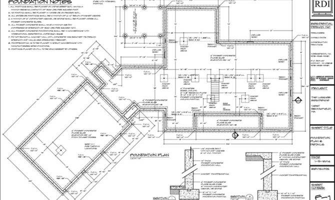 Foundation Plans Residential Design Inc