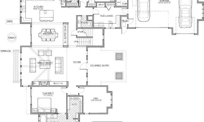 Four Bedroom Craftsman House Plan