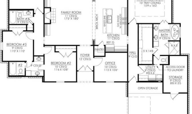 Four Bedroom House Floor Plan Modern Style Home Design Ideas