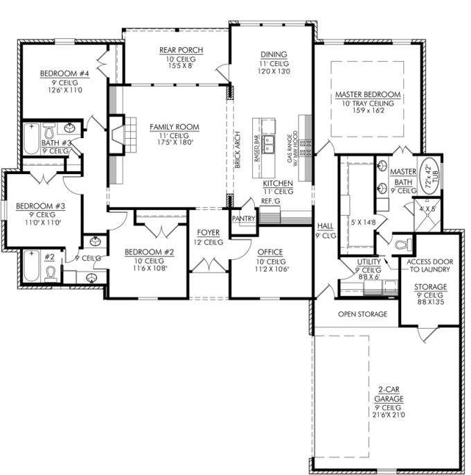 Four Bedroom House Plans Homes Kerala India House Plans 92029