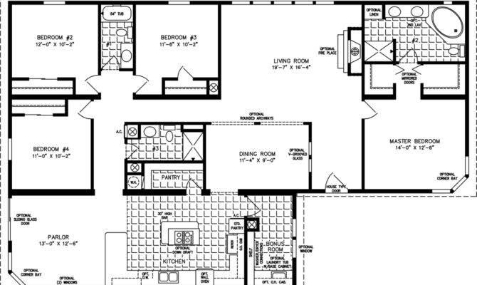 Four Bedroom Mobile Homes Floor Plans